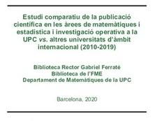 Estudi bibliomètric de matemàtiques UPC