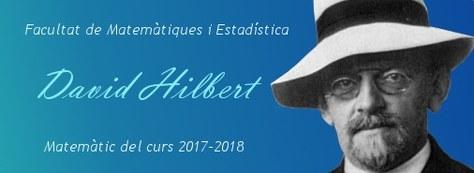 Miguel Muñoz-Lecanda obre el curs FME 2017-2018 dedicat al matemàtic alemany David Hilbert